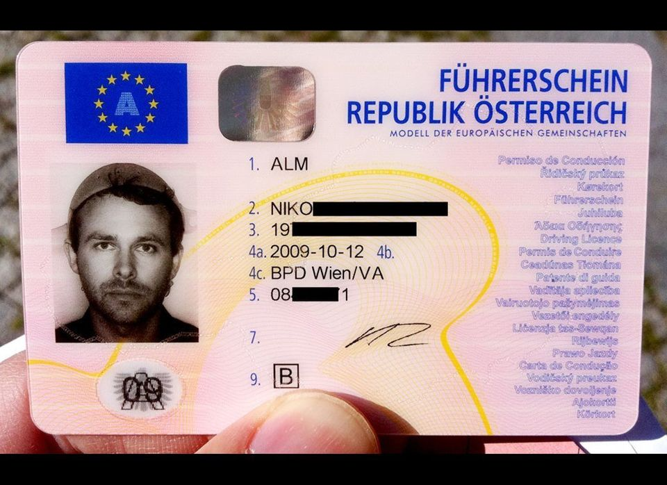 Atheist Niko Alm is seen in his license photo wearing a pasta strainer. Alm belongs to the Church of the Flying Spaghetti Mon