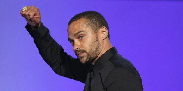 Jesse Williams accepts the humanitarian award at the BET Awards at the Microsoft Theater on Sunday, June 26, 2016, in Los Angeles. (Photo by Matt Sayles/Invision/AP)