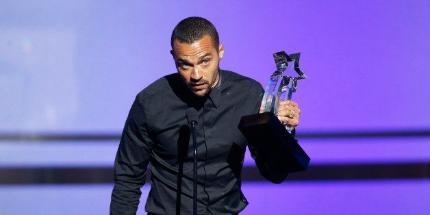 Actor Jesse Williams accepts the Humanitarian Award during the 2016 BET Awards in Los Angeles, California U.S. June 26, 2016.