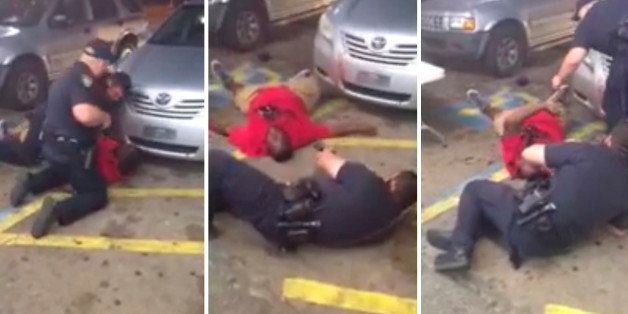 ATTENTION EDITORS - VISUAL COVERAGE OF SCENES OF INJURY OR DEATHStill images from video show Alton Sterling as he is shot dea