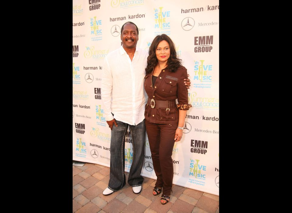 Record executive Matthew Knowles and designer Tina Knowles, parents of singers Beyonce Knowles and Solange Knowles, attend th