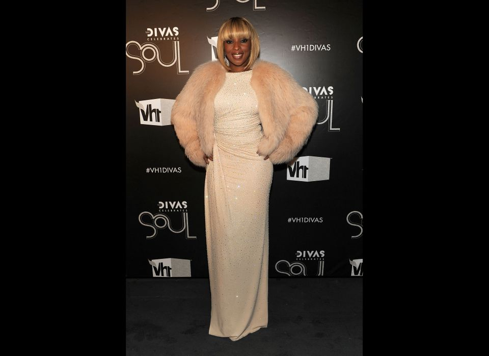 NEW YORK, NY - DECEMBER 18:  Singer Mary J. Blige attends VH1 Divas Celebrates Soul at Hammerstein Ballroom on December 18, 2
