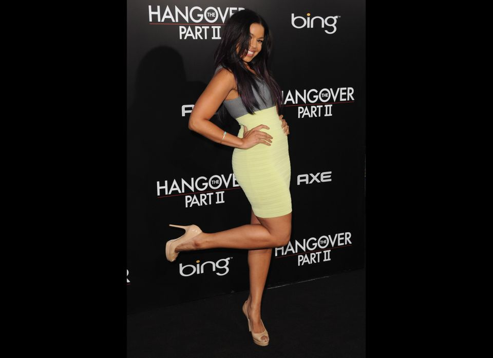 LOS ANGELES, CA - MAY 19:  Singer Jordin Sparks arrives at the premiere of Warner Bros. 'The Hangover Part II' at Grauman's C