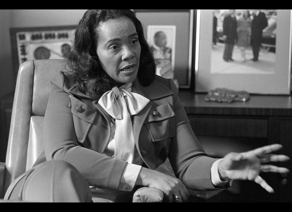 Coretta Scott King being interviewed in her office at the Martin Luther King Center. (Tom Hill, WireImage / Getty Images)