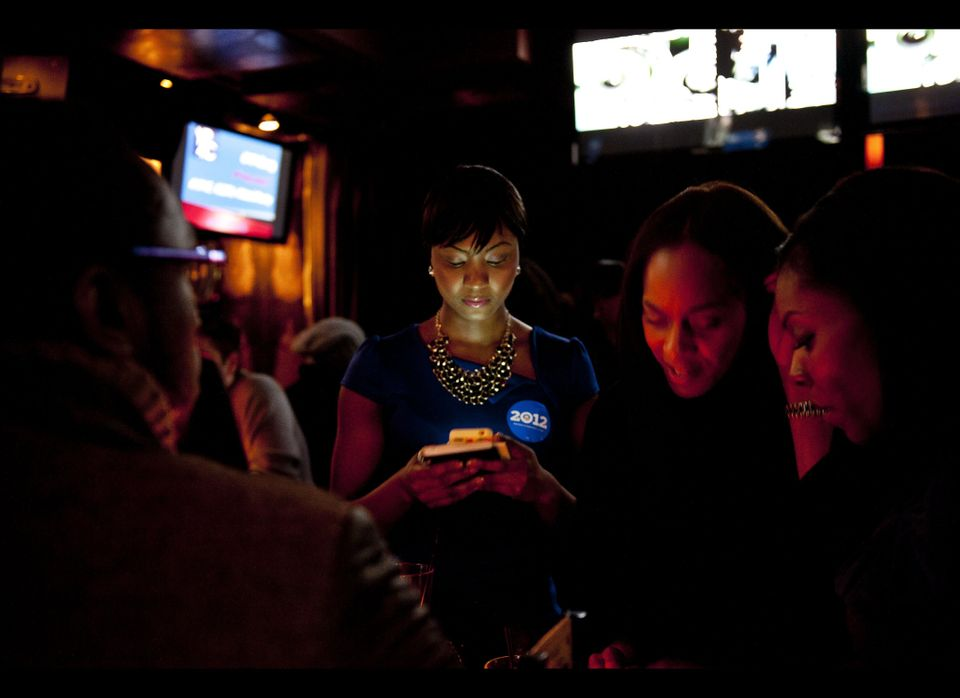 Osas Ighodaro, former Miss Black USA attends a State of the Union party to watch as President Barack Obama addresses the Unit