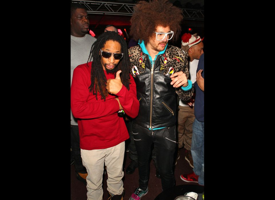 Lil Jon and Redfoo of LMFAO attend the T-Mobile Presents Google Music at TAO, a nightlife event at the 2012 Sundance Film Fes