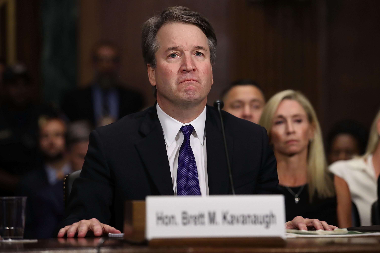Judge Brett Kavanaugh testifies to the Senate Judiciary Committee during his Supreme Court confirmation...