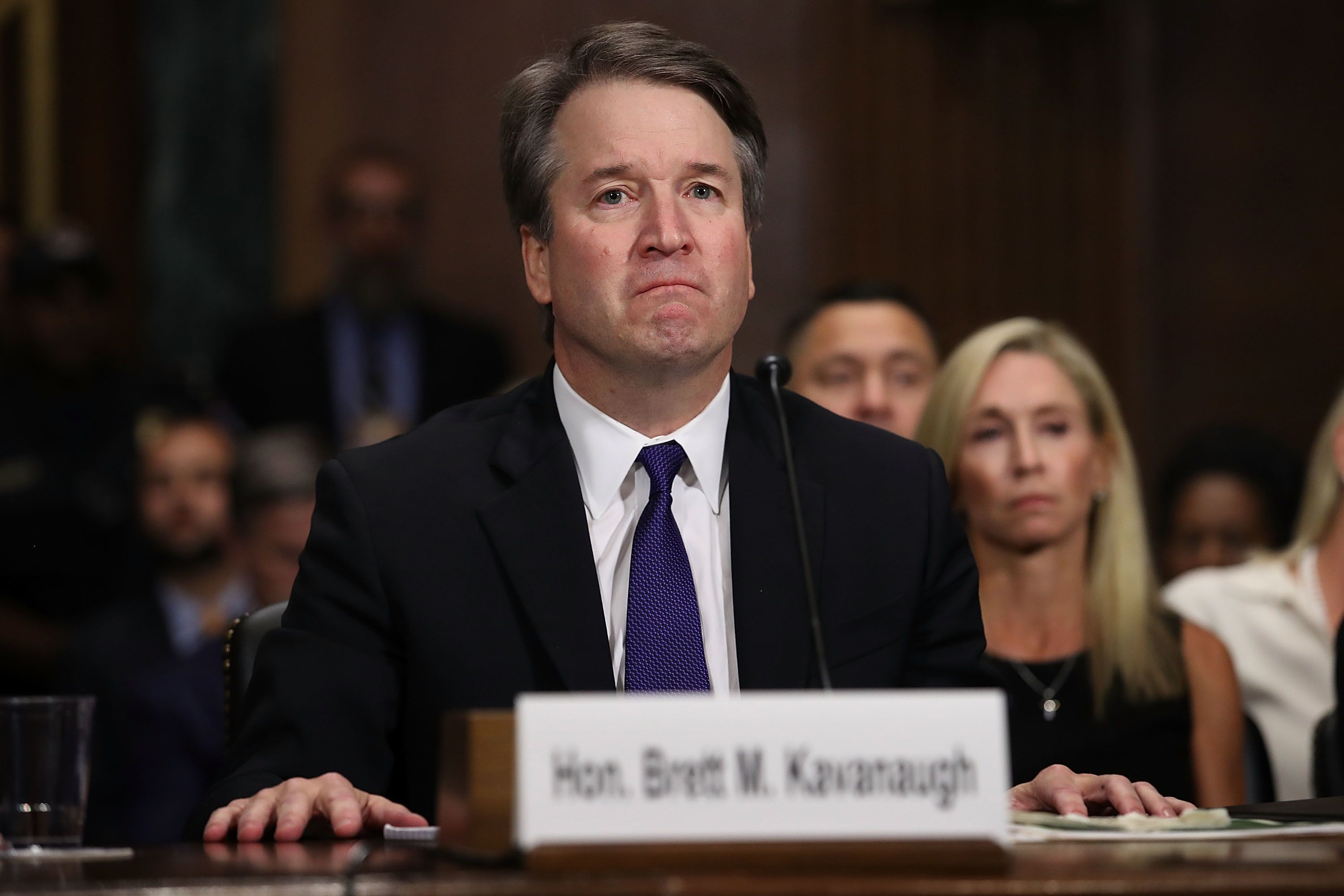 Judge Brett Kavanaugh testifies to the Senate Judiciary Committee during his Supreme Court confirmation hearing Thursday in a