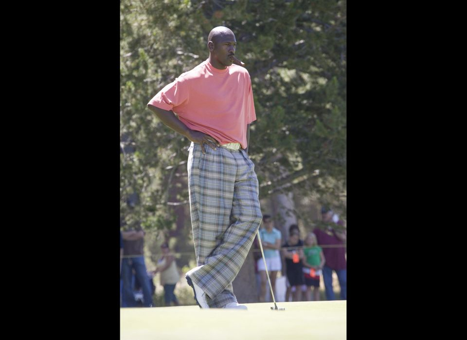 Michael Jordan plays at the American Century Celebrity Golf Tournament (Photo by Michael Bezjian/WireImage)