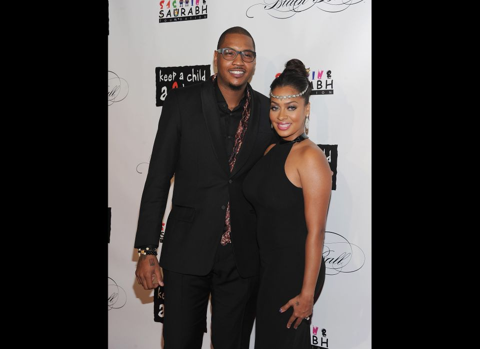 NEW YORK, NY - NOVEMBER 03:  Carmelo Anthony and LaLa Anthony attend the 8th annual Keep A Child Alive Black Ball at the Hamm