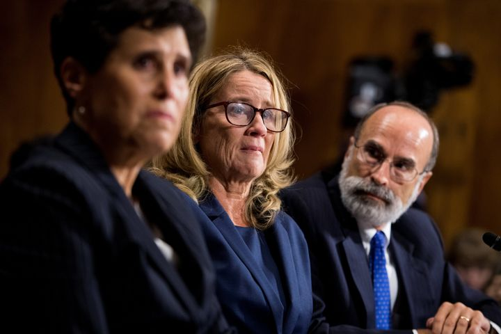 Christine Blasey Ford gave emotional but restrained testimony in front of the Senate Judiciary Committee on Thursday.