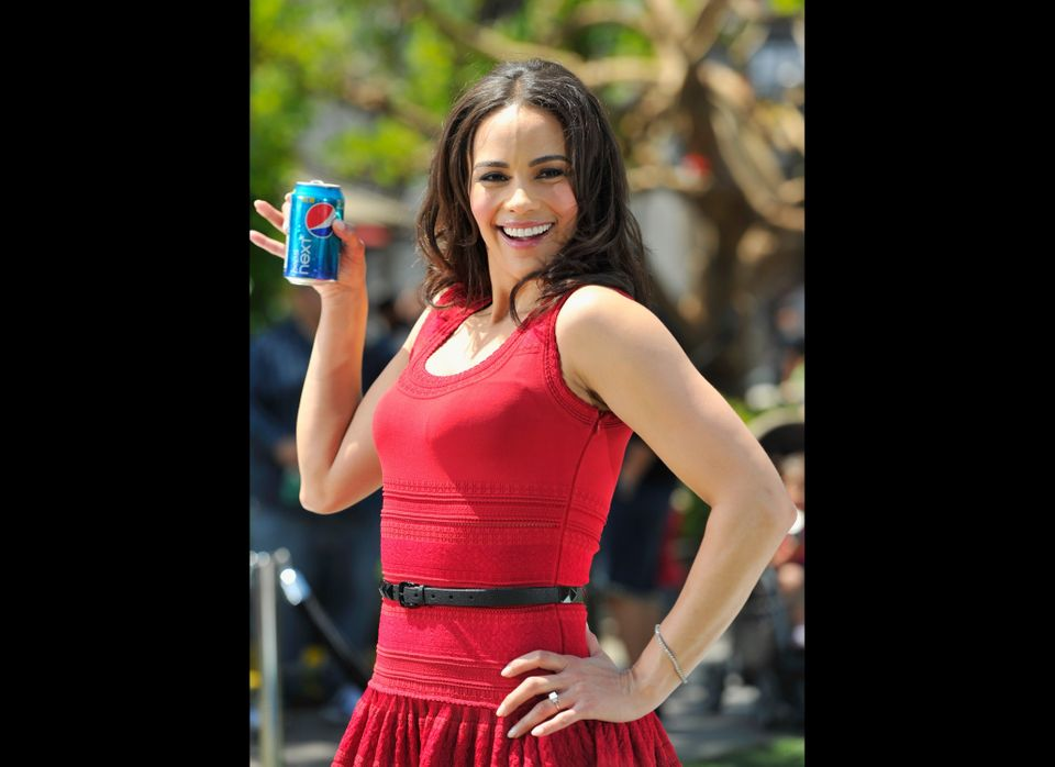 LOS ANGELES, CA - APRIL 09:  Actress Paula Patton kicks off Pepsi NEXT's 'Drink It To Believe It' campaign at The Grove on Ap