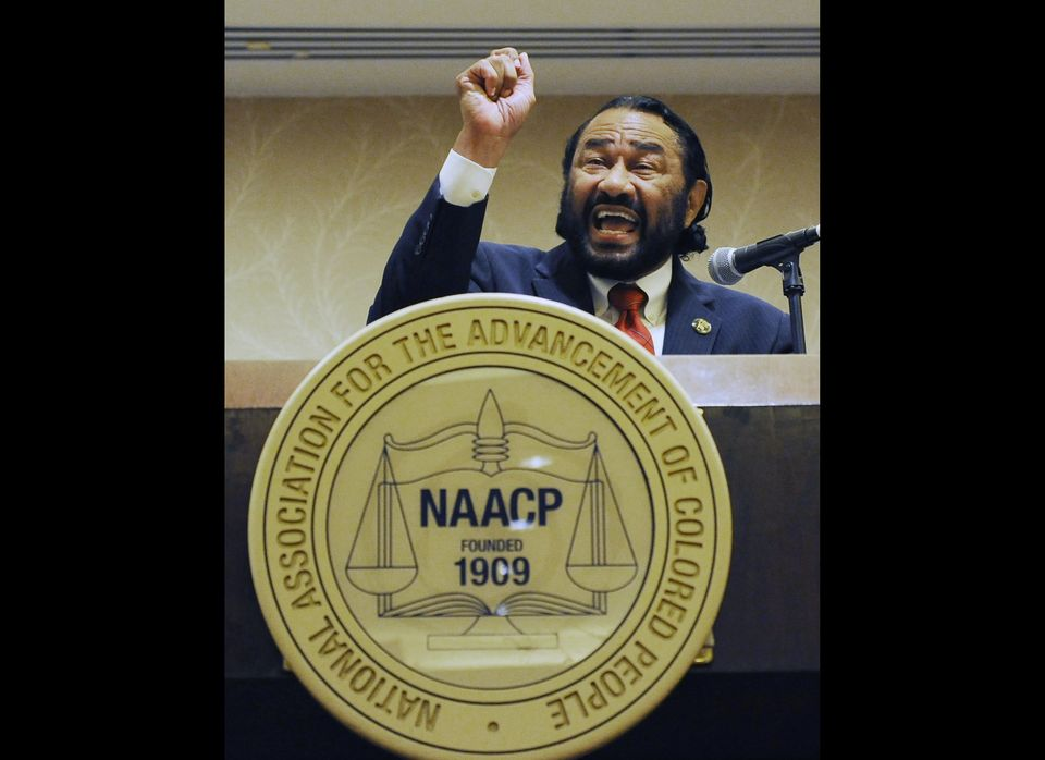 U.S. Congressman Al Green from Texas speaks at an NAACP news conference Friday, July 6, 2012, in Houston the day before the g