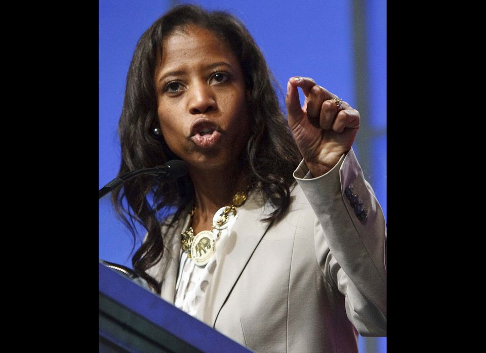 In this April 21, 2012 file photo, Utah's 4th Congressional District candidate Mia Love speaks at the Republican state conven