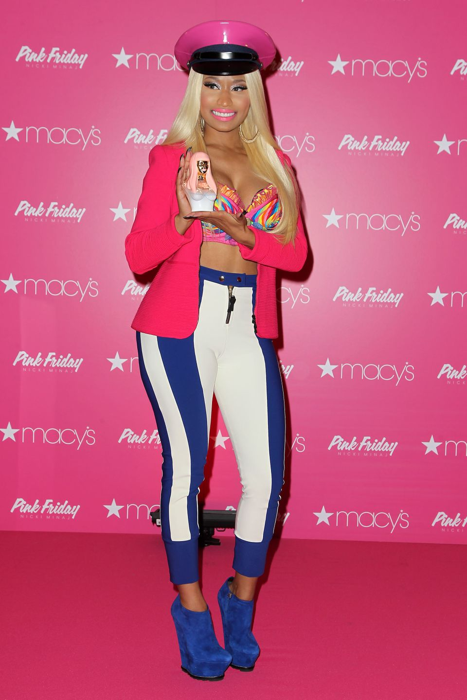 "This image released by Starpix shows singer and newly named ""American Idol"" judge Nicki Minaj at Macy's Herald Square to laun"