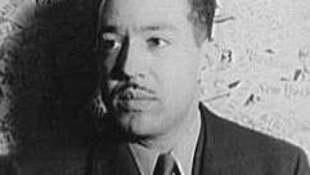 w:en:Langston Hughes  photographed by w:en:Carl Van Vechten , 1936. From the collection of the w:en:Library of Congress  and