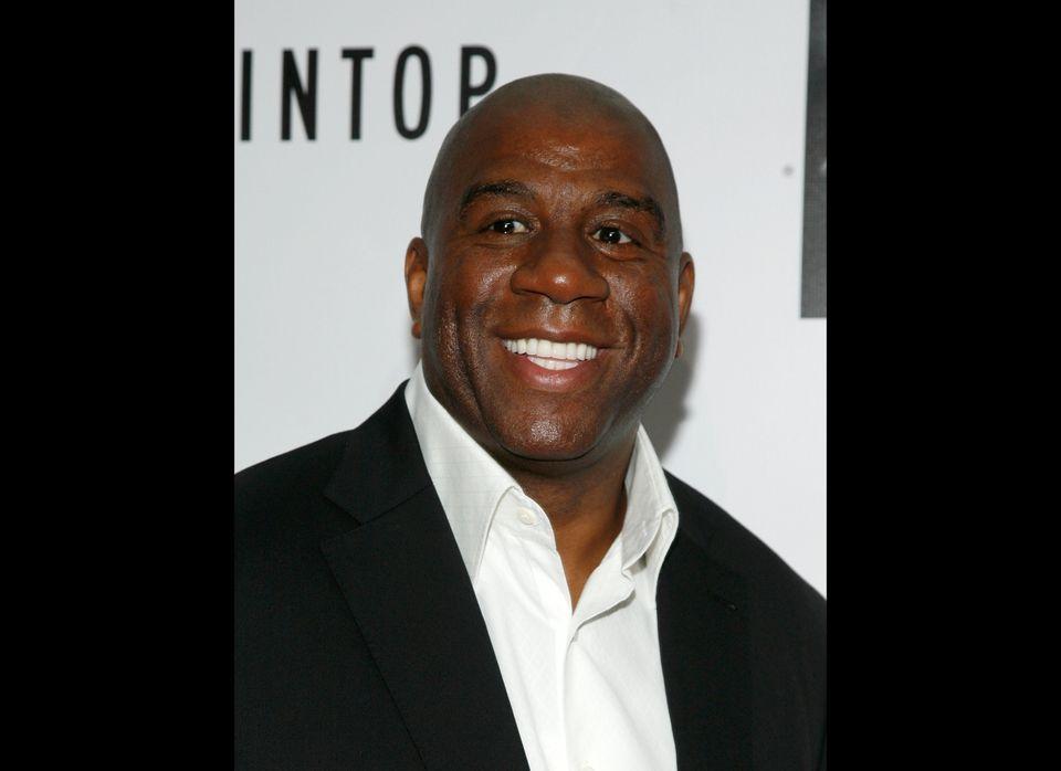 "Lakers star Magic Johnson <a href=""https://www.huffpost.com/entry/magic-johnson-joins-bid-dodgers-ownership-mlb_n_1127059"" ta"