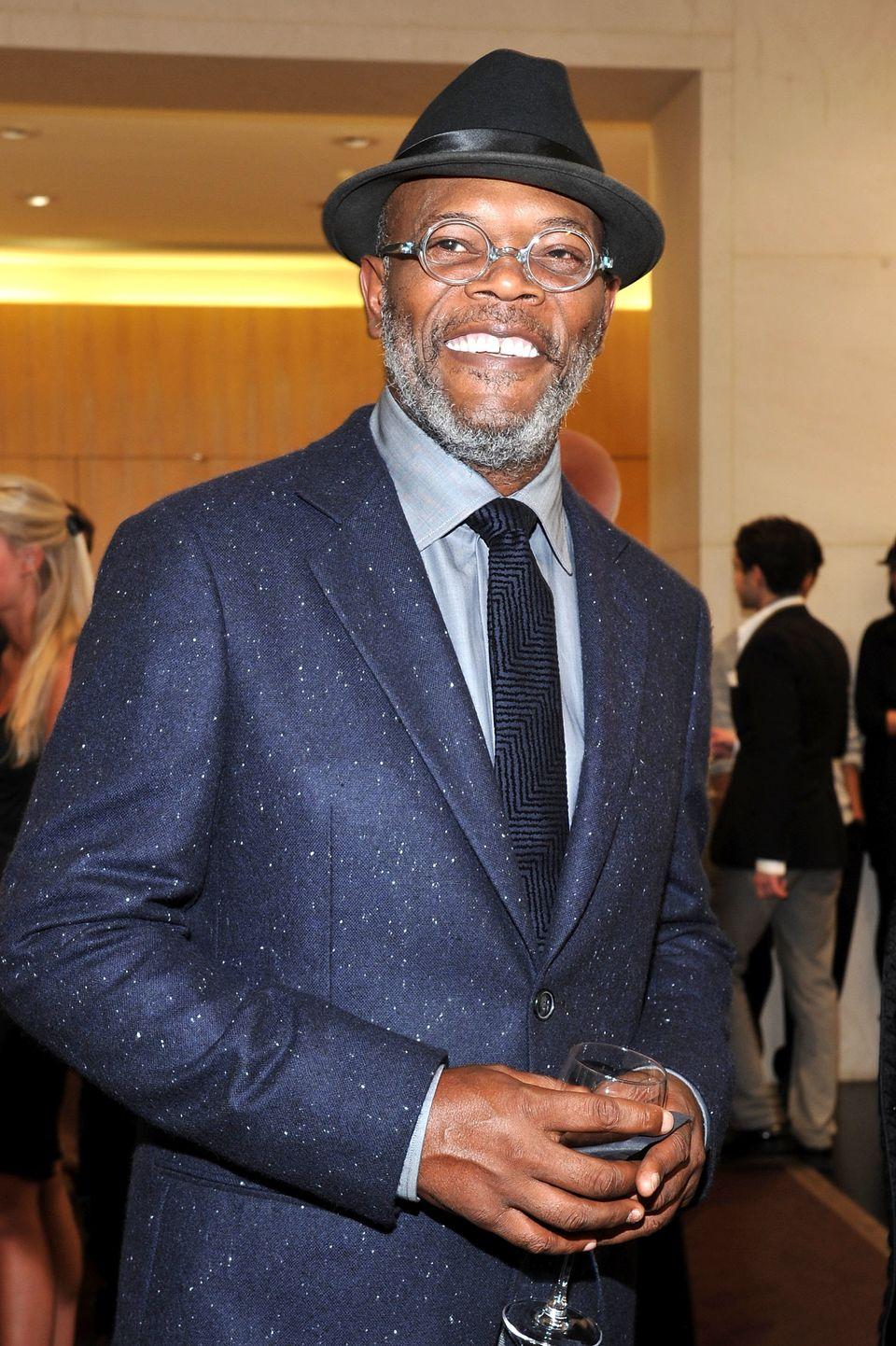NEW YORK, NY - SEPTEMBER 08:  Actor Samuel L. Jackson attends the Giorgio Armani Madison Avenue event at Giorgio Armani Madis