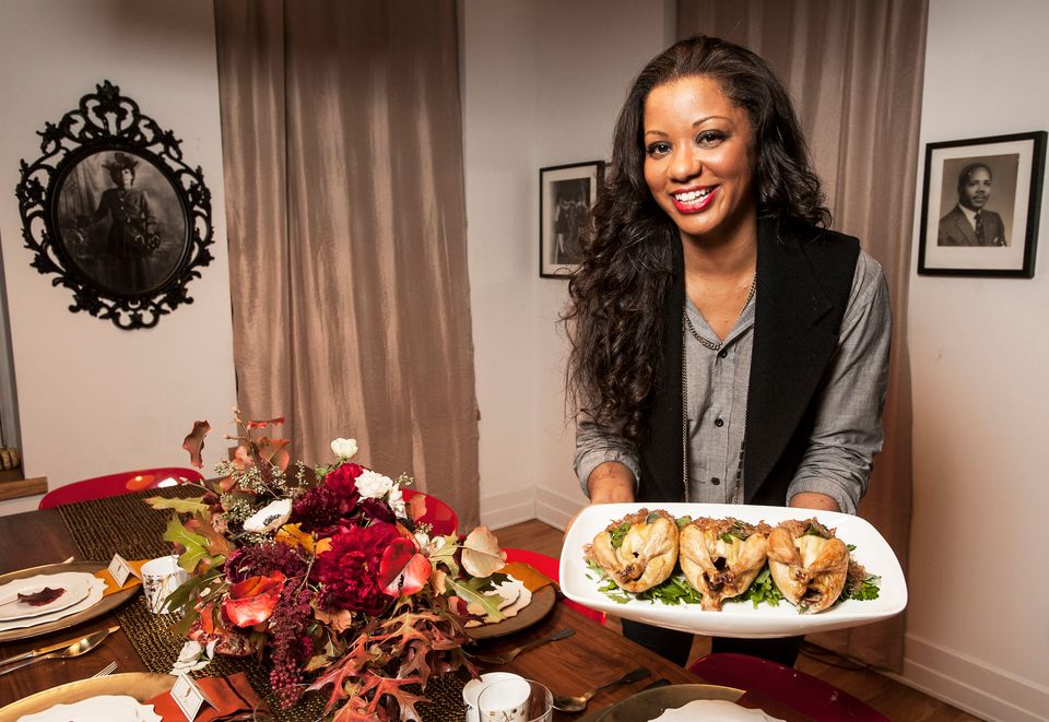 Chef Vanessa Cantave gave her 2012 Thanksgiving menu a test run at her apartment in Brooklyn, N.Y.