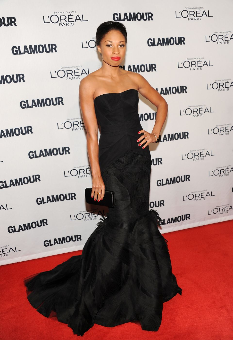 """Olympic gold medal sprinter Allyson Felix attends Glamour Magazine's 22nd annual """"Women of the Year Awards"""" at Carnegie Hall"""