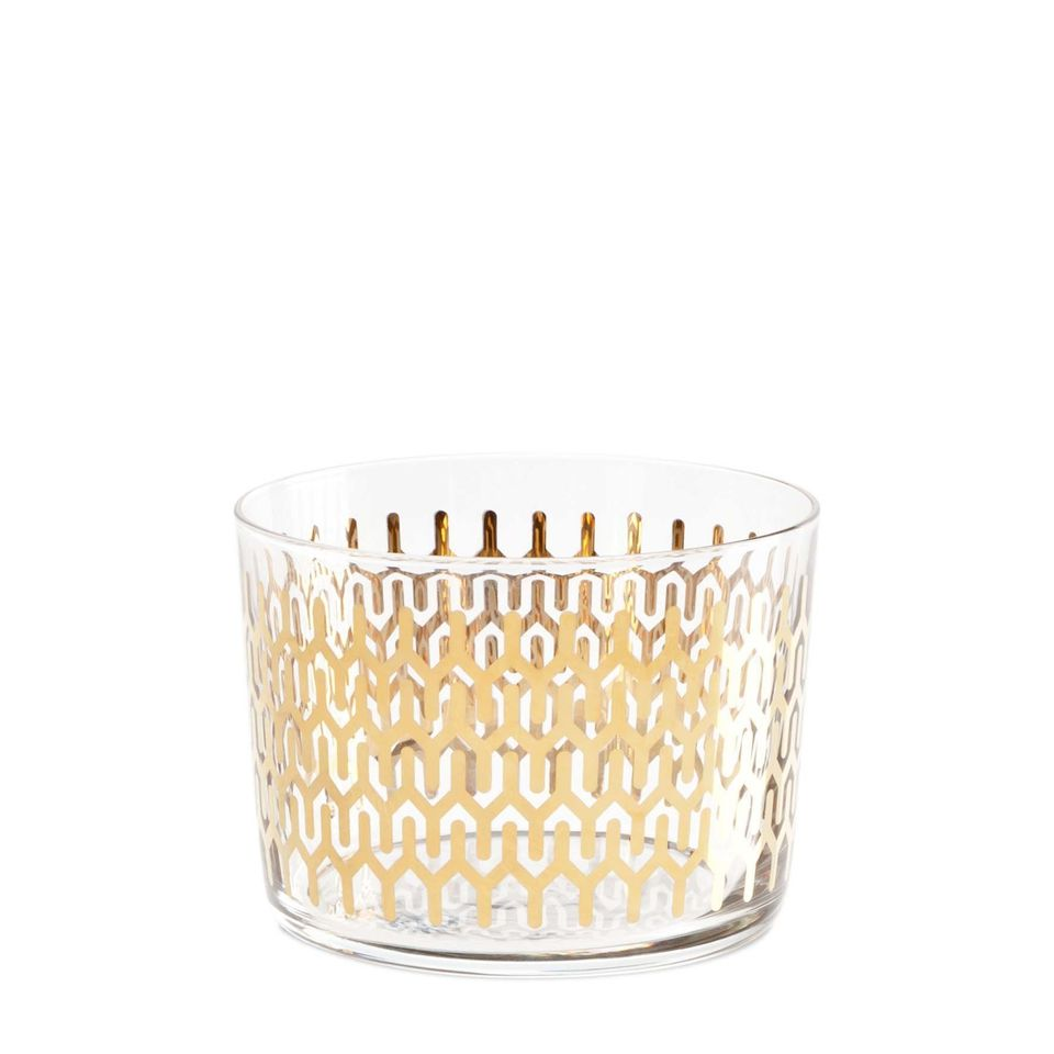"Petite glassware without stems is perfect for passing dishes, spill-free, during <a href=""http://www.huffingtonpost.com/2012/"