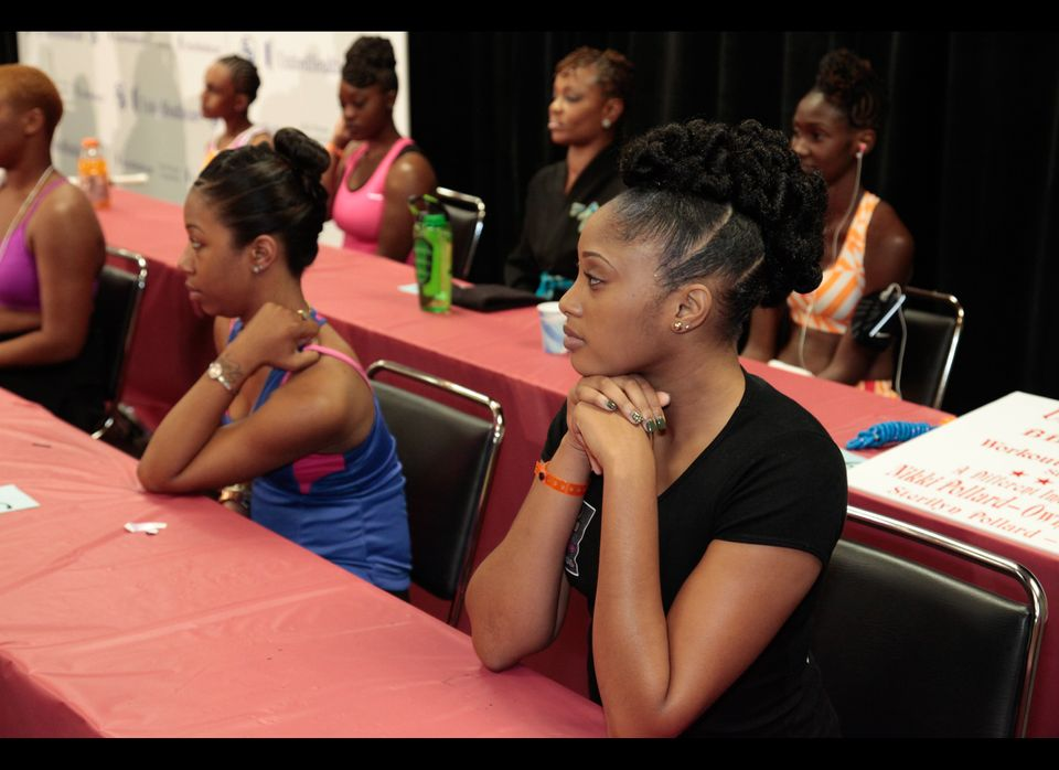 A sampling of creative hairstyles at the 3rd Annual UnitedHealthcare Hair Fitness Competition at the 2012 Bronner Brothers Ha