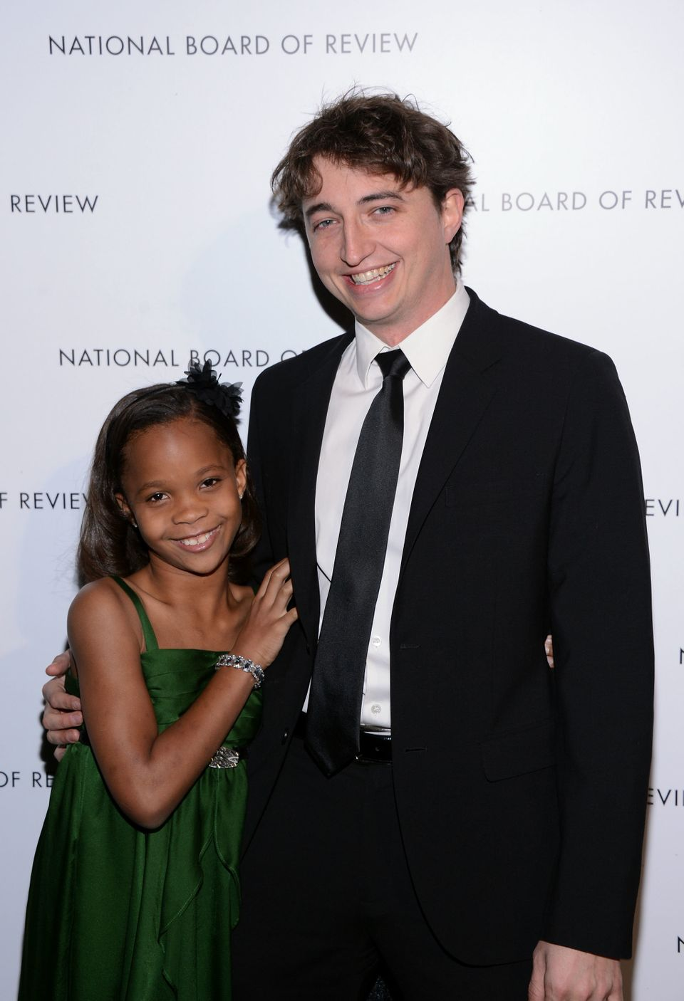 NEW YORK, NY - JANUARY 08:  Actress Quvenzhane Wallis and Director Benh Zeitlin attend the 2013 National Board Of Review Awar