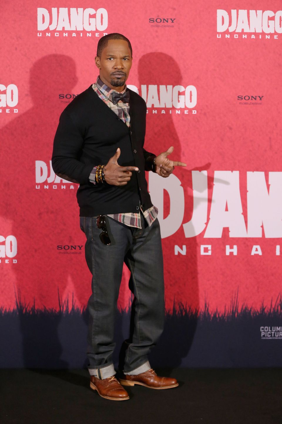 BERLIN, GERMANY - JANUARY 08:  Jamie Foxx attends 'Django Unchained' Berlin Photocall at Hotel de Rome on January 8, 2013 in