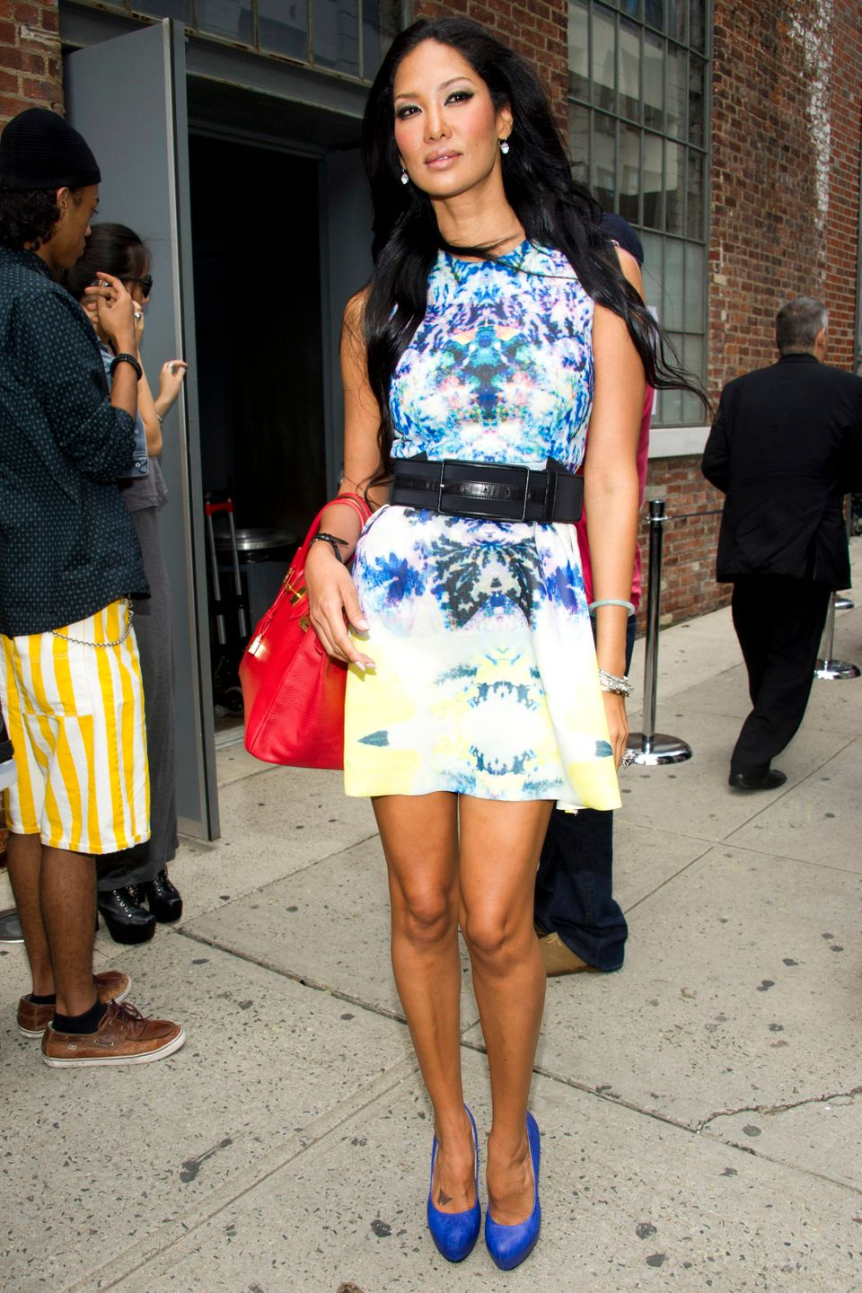 Kimora Lee Simmons attends the Donna Karan Spring 2013 show during Fashion Week in New York on Monday, Sept. 10, 2012. (Photo