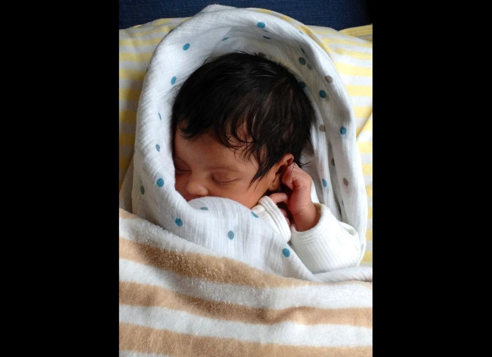 Photos of the 1-month-old Blue Ivy, were posted by Jay-Z and Beyonce on Tumblr blog page http://helloblueivycarter.tumblr.com