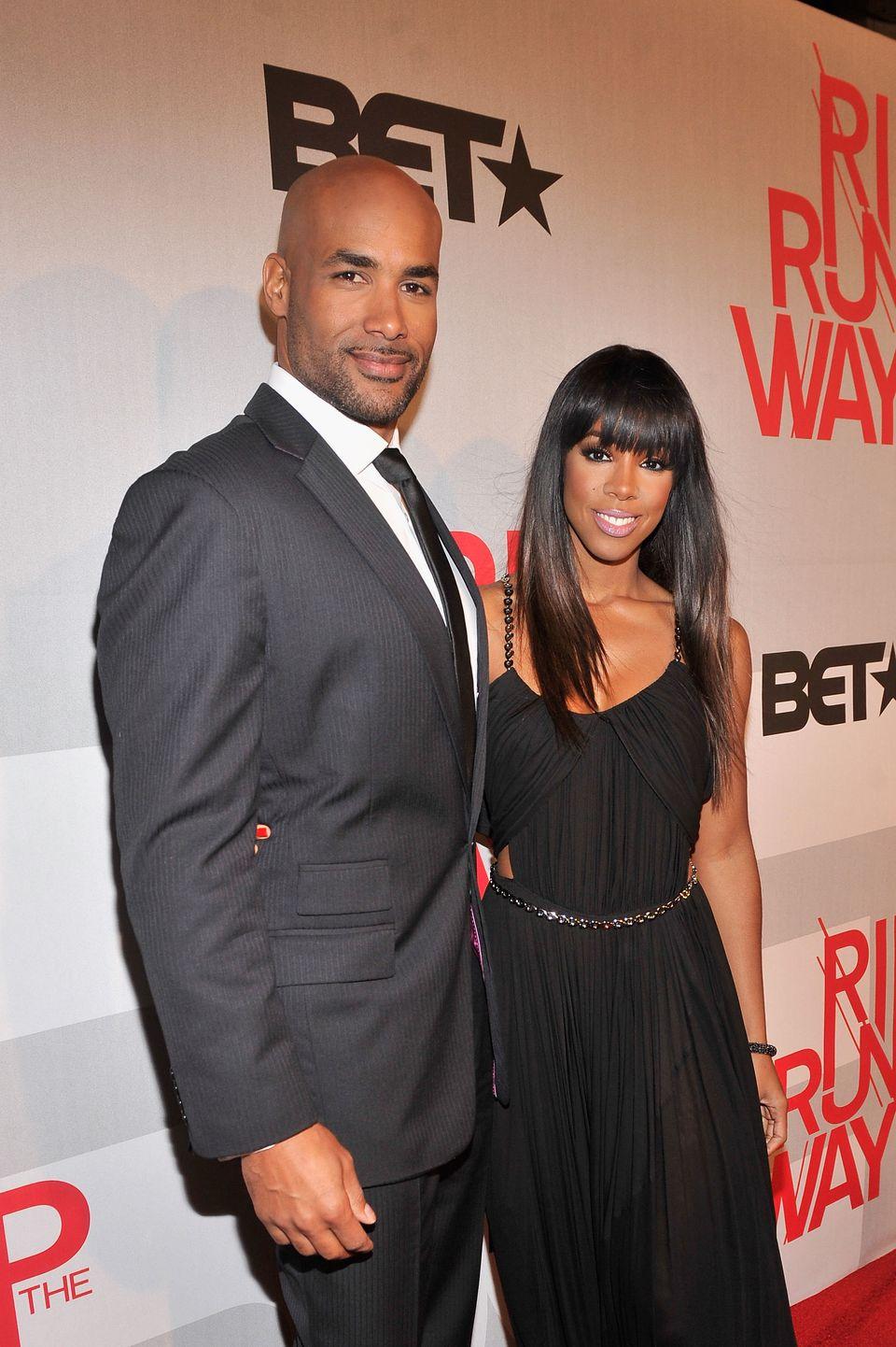 NEW YORK, NY - FEBRUARY 27:  Hosts Boris Kodjoe and Kelly Rowland attend BET's Rip The Runway 2013:Red Carpet at Hammerstein