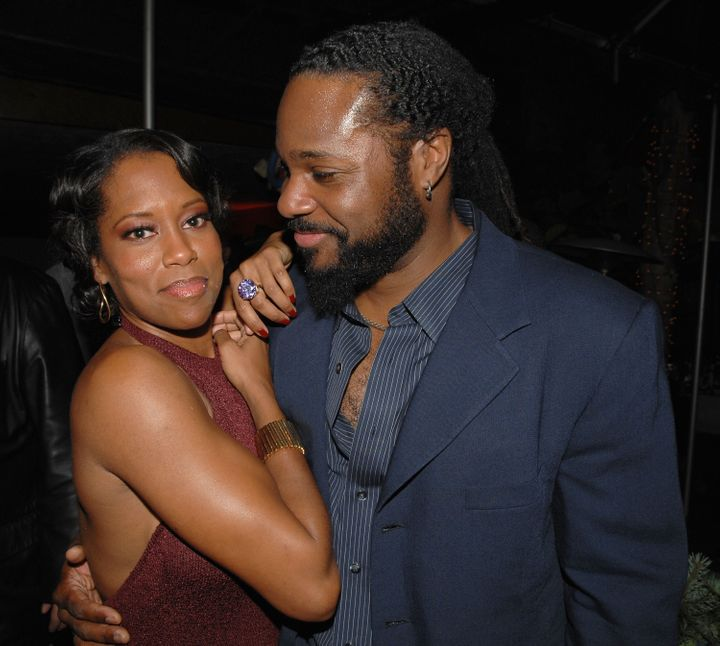 HOLLYWOOD - NOVEMBER 12:  Actors Regina King (L) and Malcolm-Jamal Warner attend the after party following the premiere of Sc