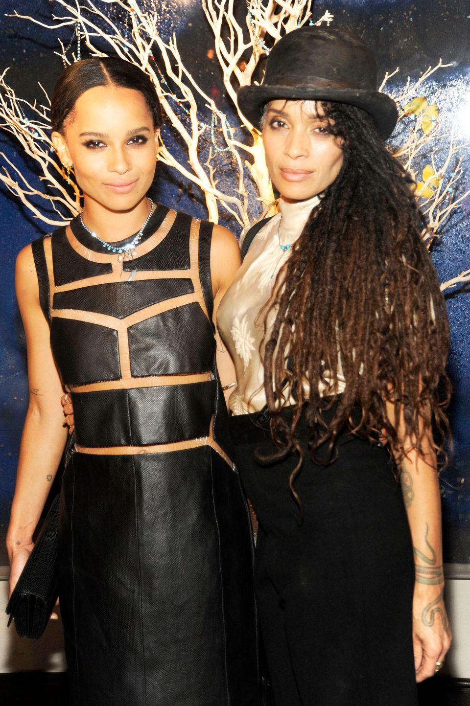 NEW YORK, NY - MARCH 21: Zoe Kravitz and Lisa Bonet attend the Zoe Kravitz For Swarovski Crystallized Launch at Gramercy Park
