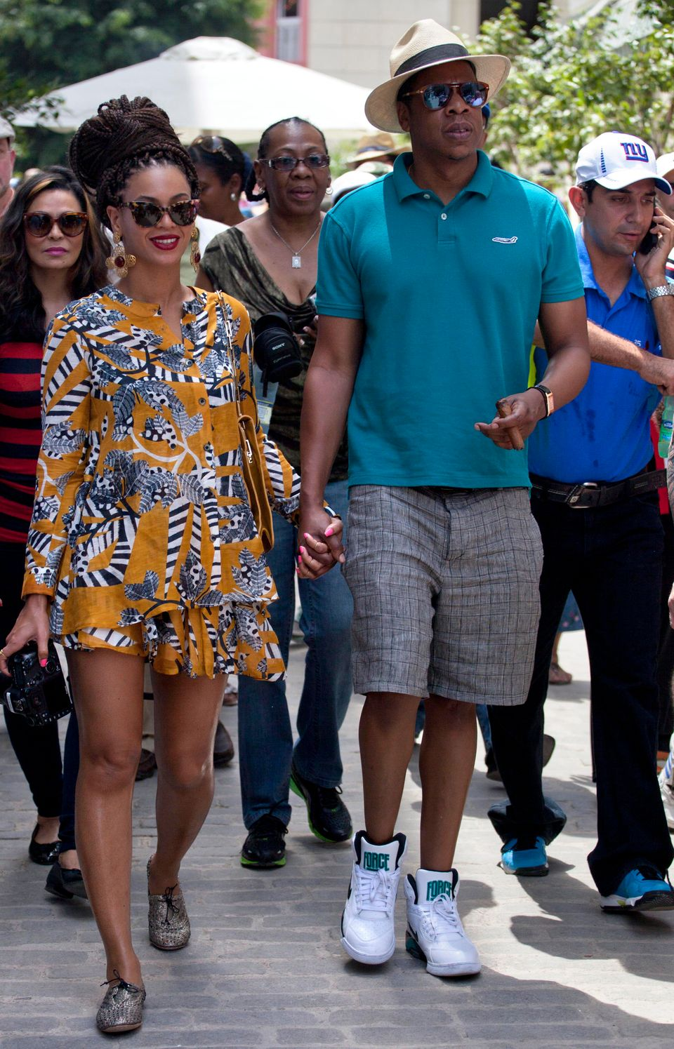 U.S. singer Beyonce and her husband, rapper Jay-Z, hold hands as they tour Old Havana, Cuba, Thursday, April 4, 2013. R&B's p