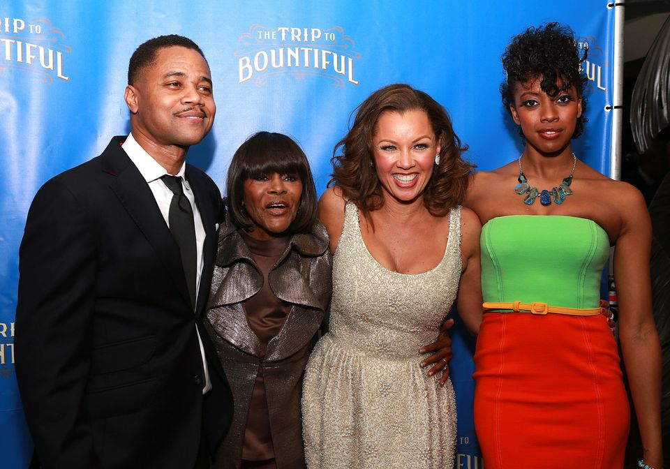 NEW YORK, NY - APRIL 23:  (L-R) Cuba Gooding Jr, Cicely Tyson, Vanessa Williams and Condola Rashad attend the after party for