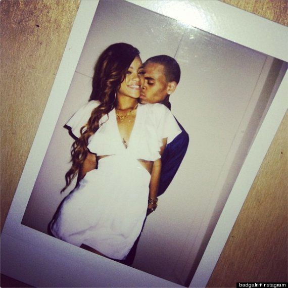 Rihanna uploaded photos of her and Brown to her Instagram account following her 25th birthday celebrations.