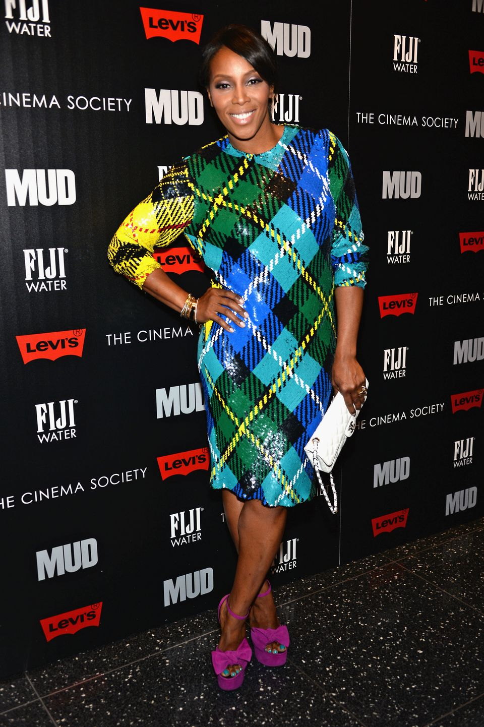 NEW YORK, NY - APRIL 21:  June Ambrose attends the Cinema Society with FIJI Water & Levi's screening of 'Mud' at The Museum o