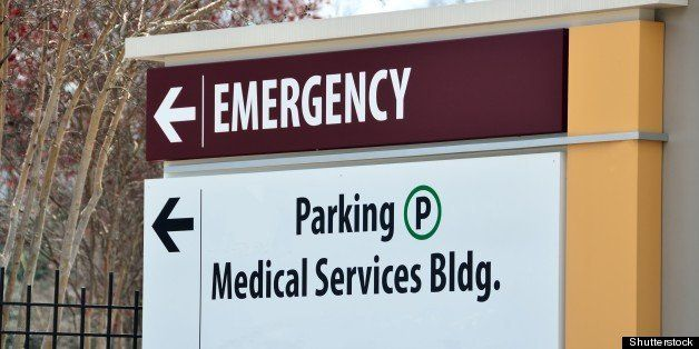 emergency services sign at a...