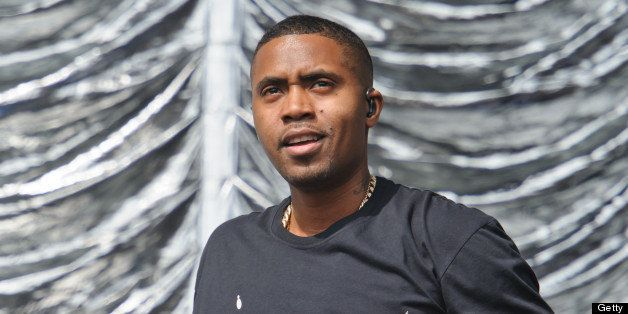 LONDON, UNITED KINGDOM - JULY 14:  Nas performs on day 3 of the Yahoo! Wireless Festival at Queen Elizabeth Olympic Park on J
