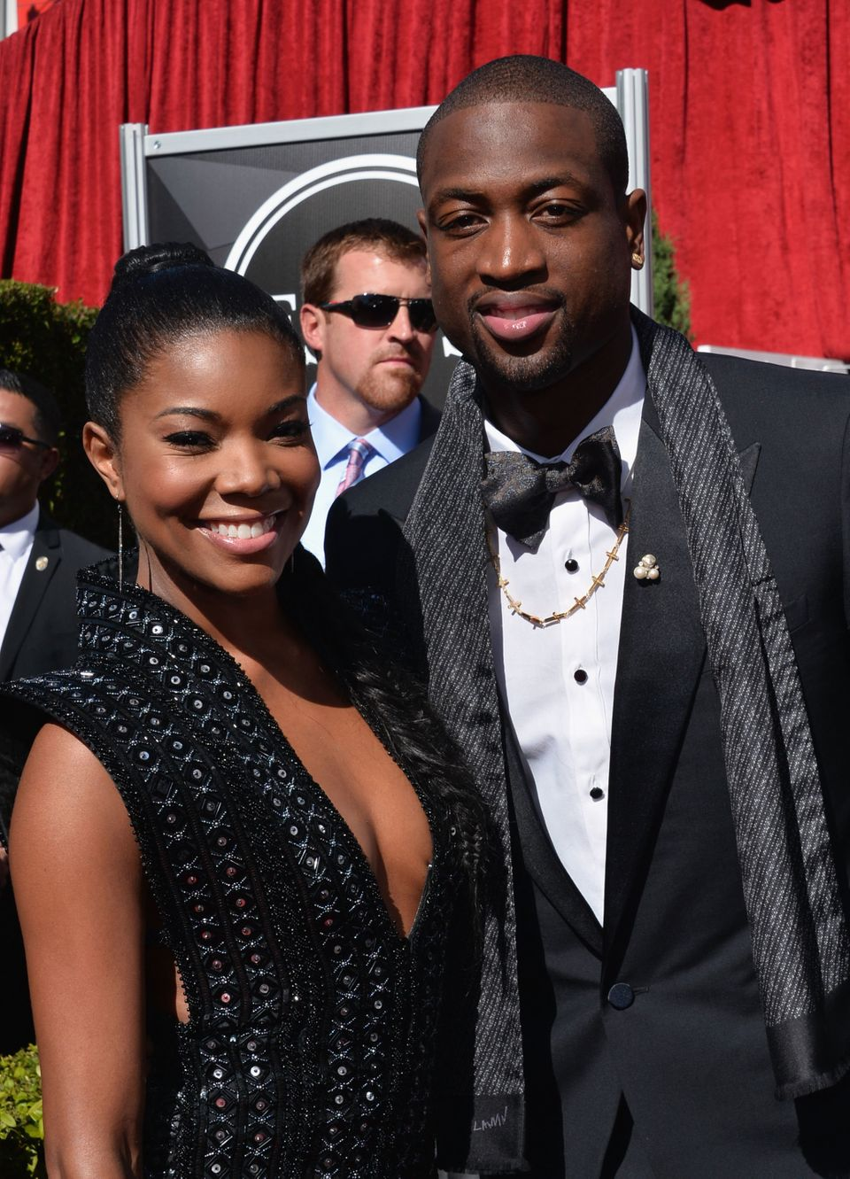 LOS ANGELES, CA - JULY 17:  (L-R) Actress Gabrielle Union and NBA player Dwayne Wade attend The 2013 ESPY Awards at Nokia The