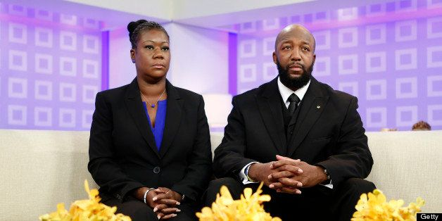 TODAY -- Pictured: (L-R) Sybrina Fulton and Tracy Martin, parents of Trayvon Martin, appear on NBC News' 'Today' show -- (Pho