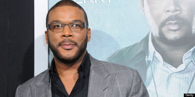 HOLLYWOOD, CA - OCTOBER 15:  Actor Tyler Perry arrives at the Los Angeles premiere of 'Alex Cross' held at ArcLight Cinemas C