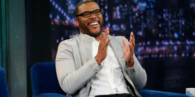 LATE NIGHT WITH JIMMY FALLON -- Episode 808 -- Pictured: Director/actor Tyler Perry on March 28, 2013 -- (Photo by: Lloyd Bis