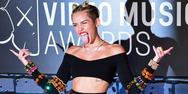 NEW YORK, NY - AUGUST 25:  Miley Cyrus attends the 2013 MTV Video Music Awards at the Barclays Center on August 25, 2013 in t