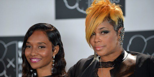 The group TLC, Rozonda Chilli Thomas (L) and Tionne T-Boz Watkins (R) at the MTV Video Music Awards August 25, 2013 at the Ba