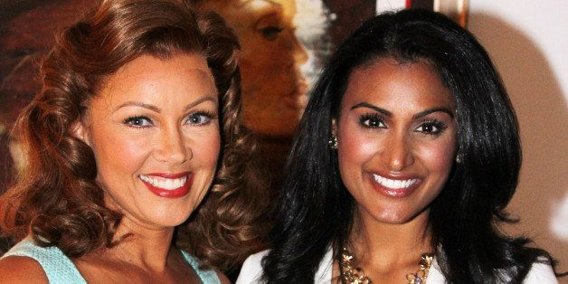 NEW YORK, NY - SEPTEMBER 18:  (EXCLUSIVE COVERAGE)  Former Miss America/actress Vanessa Williams and Miss America 2013 Nina D