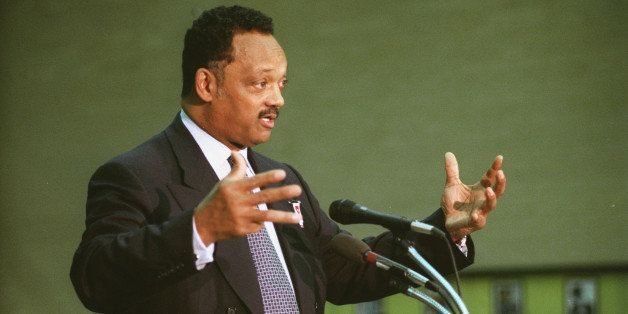 UNITED STATES - FEBRUARY 24:  BOOK SIGNING -- The Reverend Jesse L. Jackson, Sr. and his son Jesse L. Jackson, Jr. during the
