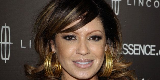 LOS ANGELES, CA - FEBRUARY 09:  Perri 'Pebbles' Reid arrives at the ESSENCE - 2nd Annual Black Women in music reception honor