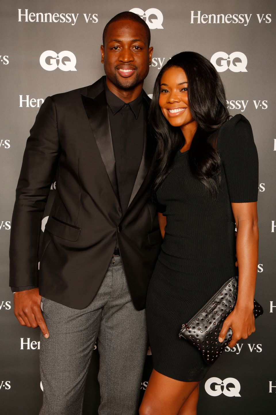 """Miami Heat's Dwyane Wade and Gabrielle Union attend the """"Hennessy V.S Celebrates the GQ MEN Book"""" at Hyde Beach at the SLS Ho"""