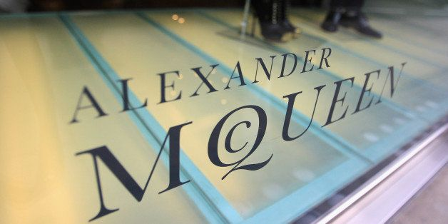 Alexander McQueen store sign on Old Bond Street on April 14, 2011 in London, England. Alexander McQueen's creative director S